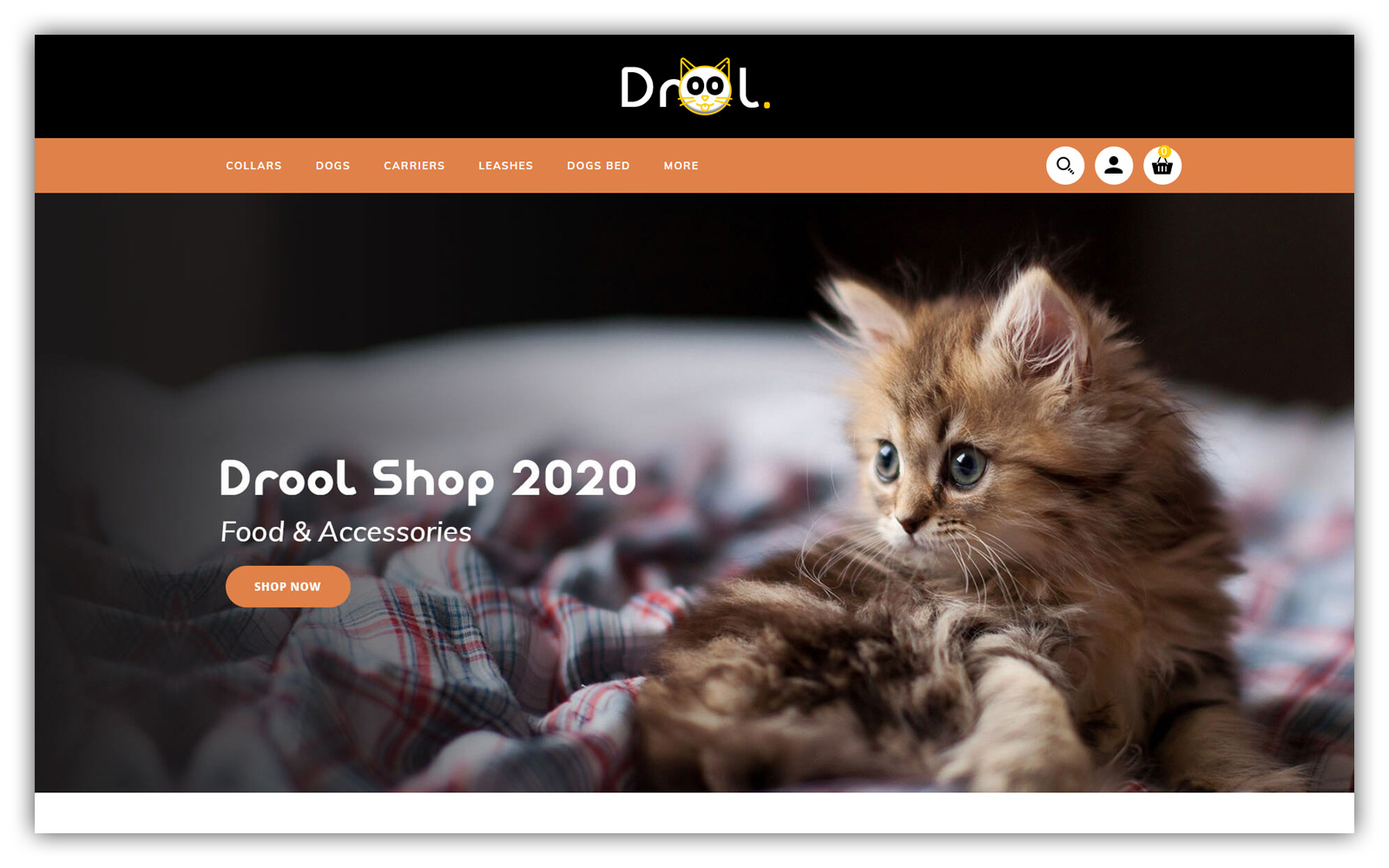 Drool Pet store OpenCart Template