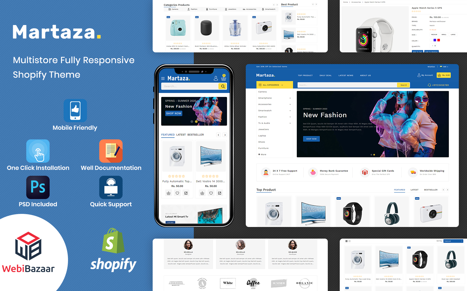 Martaza - Multipurpose Modern Shopify Theme