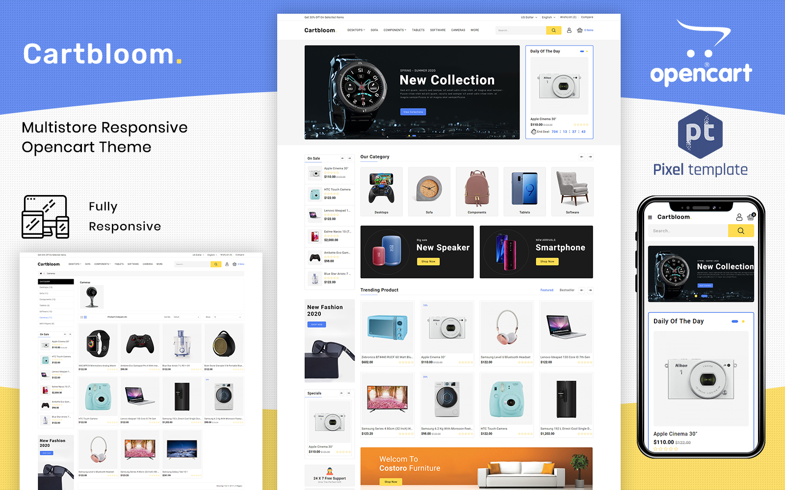 CartBloom - Multipurpose Electronic OpenCart Template