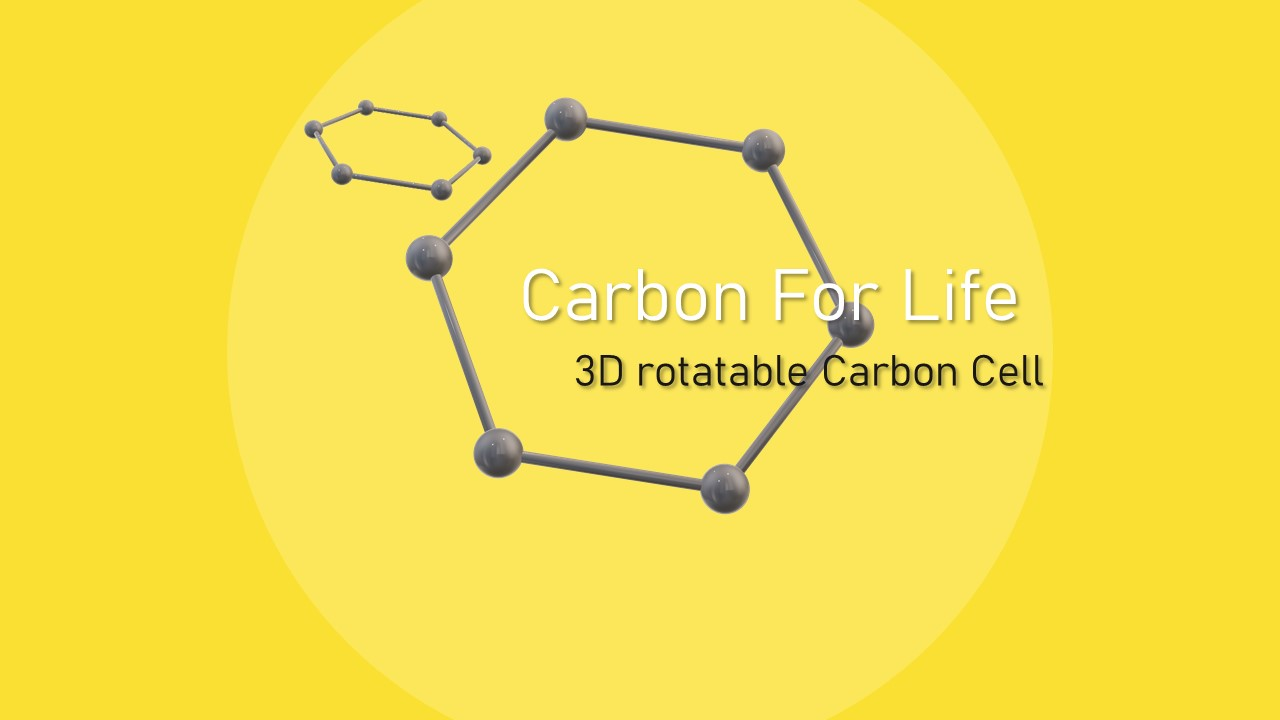 3D Carbon PowerPoint Presentation Template
