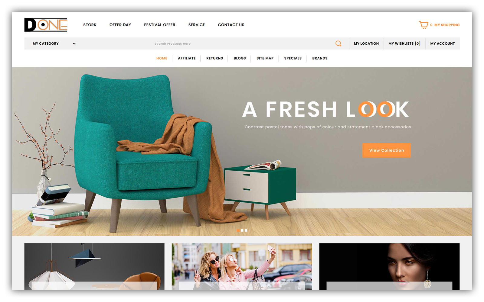 D-one Mega Store OpenCart Template