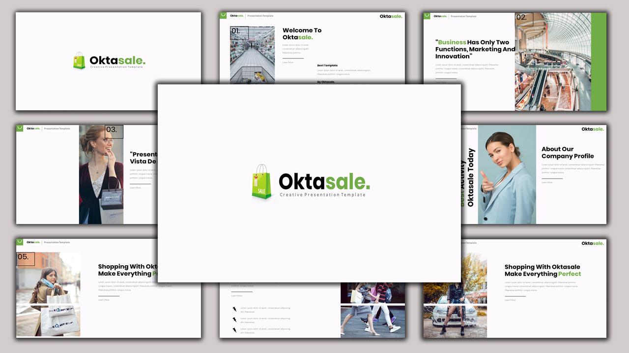 Oktasale - Modern Business PowerPoint