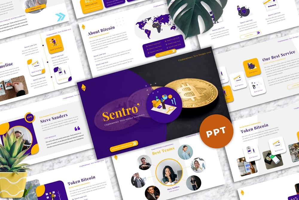 Sentro  - Cryptocurrency Powerpoint
