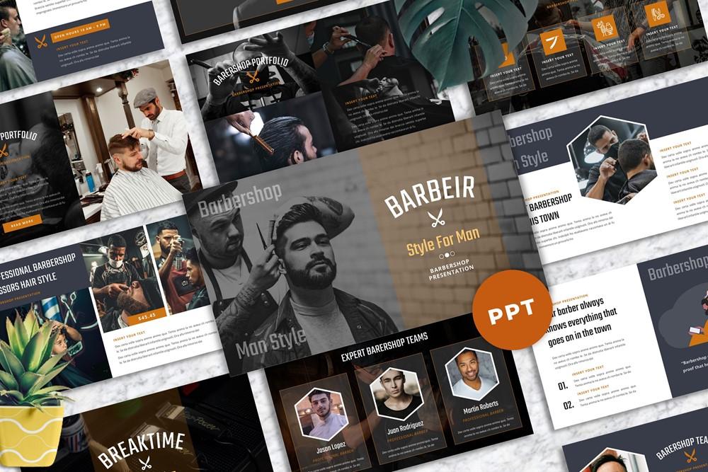 Barbeir - Barbershop Powerpoint