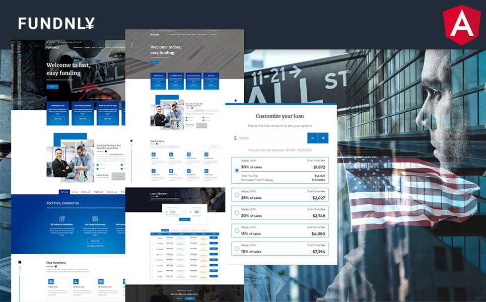 Fundnly Laon and Banking Angular Template
