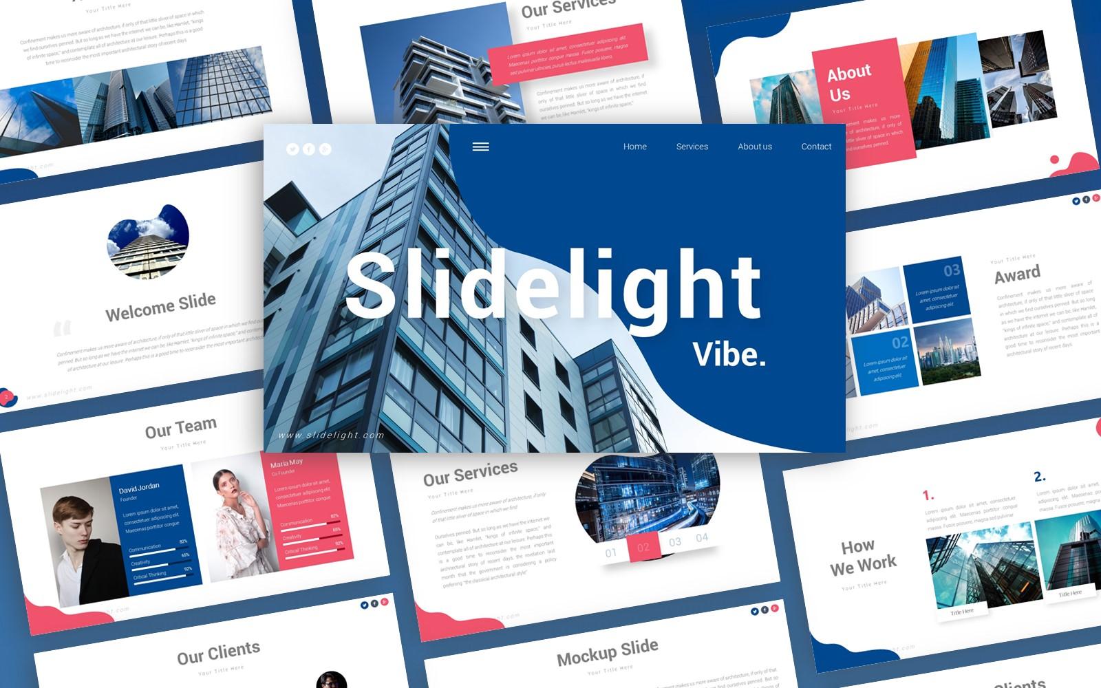 Skylight Architecture Presentation PowerPoint template