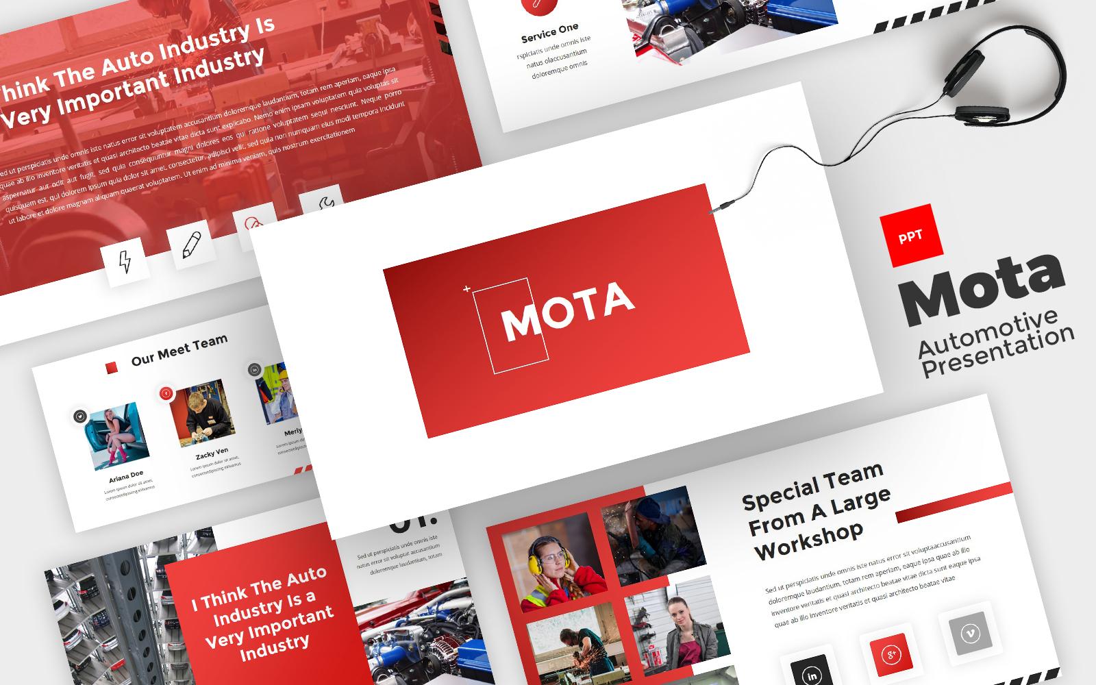 Mota - Automotive Powerpoint