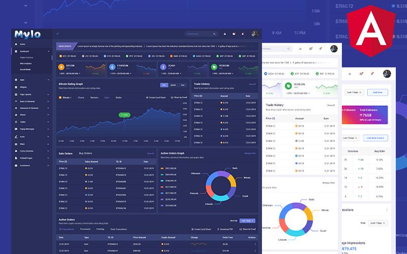 Mylo | Multipurpose Angular Admin Dashboard