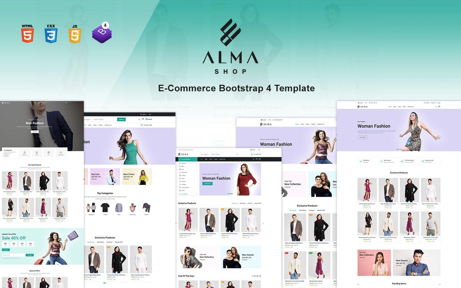 Alma Shop - eCommerce Bootstrap 4 Website Template