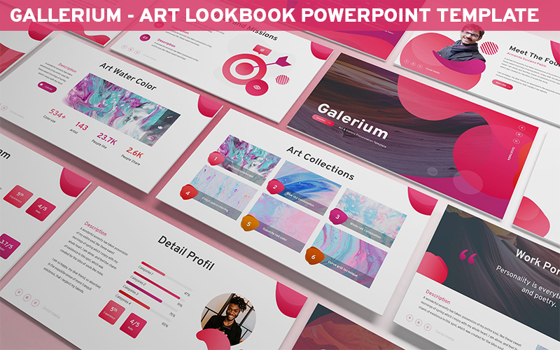 Galerium - Art Lookbook Powerpoint Template