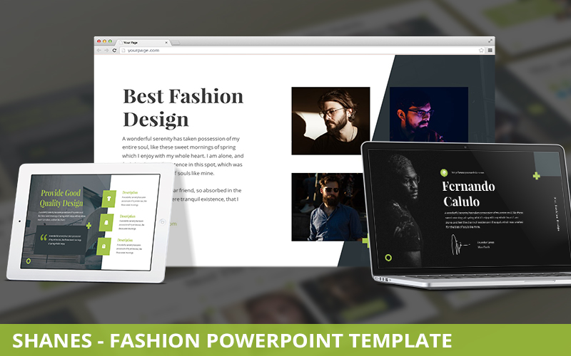 Shanes - Fashion Powerpoint Template