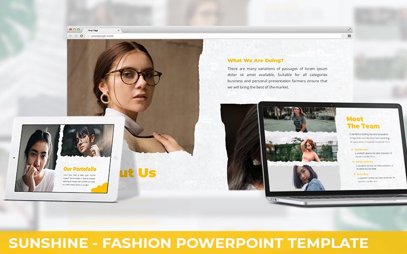 Sunshine - Fashion Powerpoint Template
