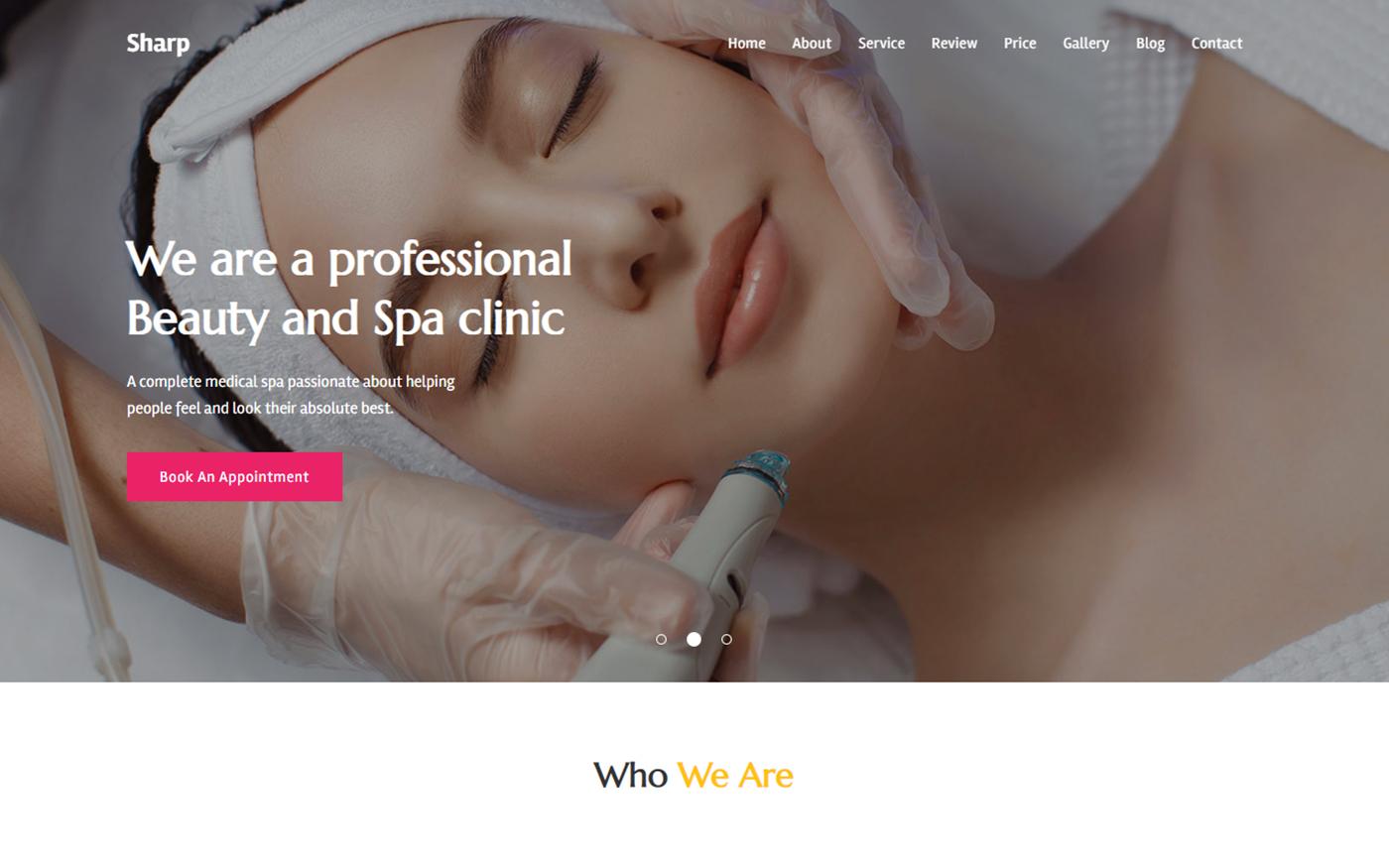 Sharp - Beauty Salon & Makeup Studio Landing Page