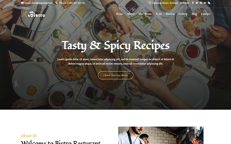Bistro - Food & Resturant Responsive Landing Page Template