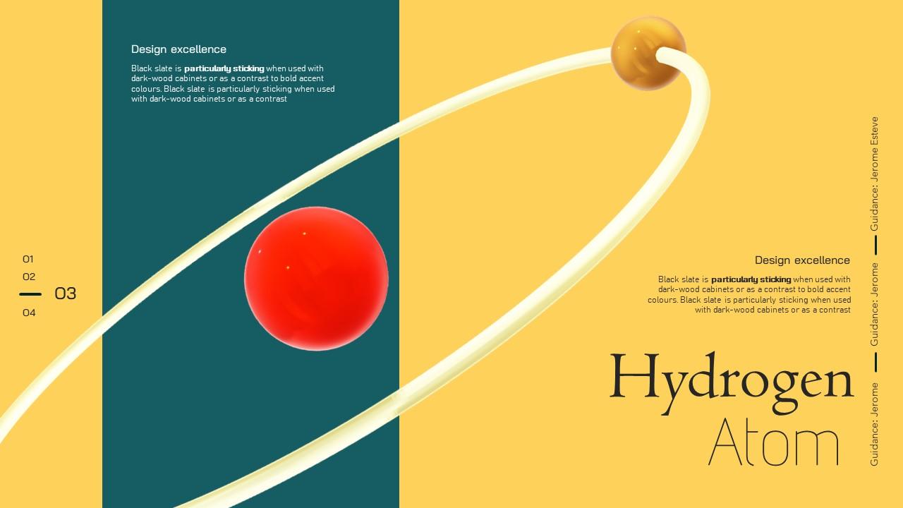 3D Hydrogen PowerPoint template