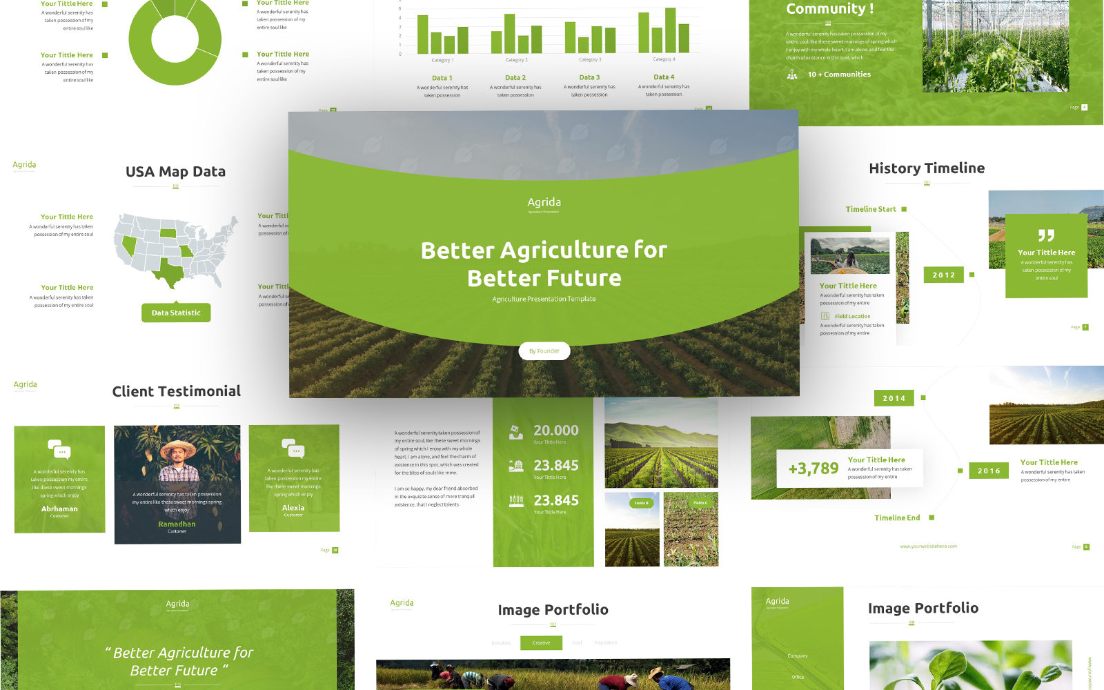 Agrida - Agriculture PowerPoint template