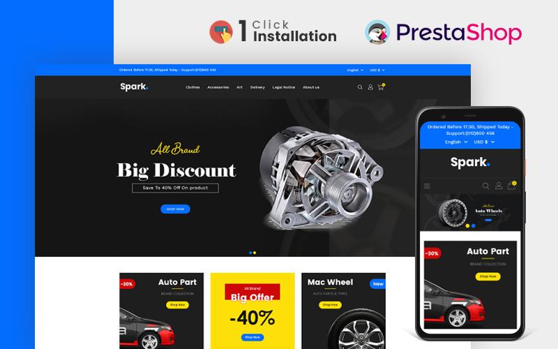 Spark Auto Parts PrestaShop Store