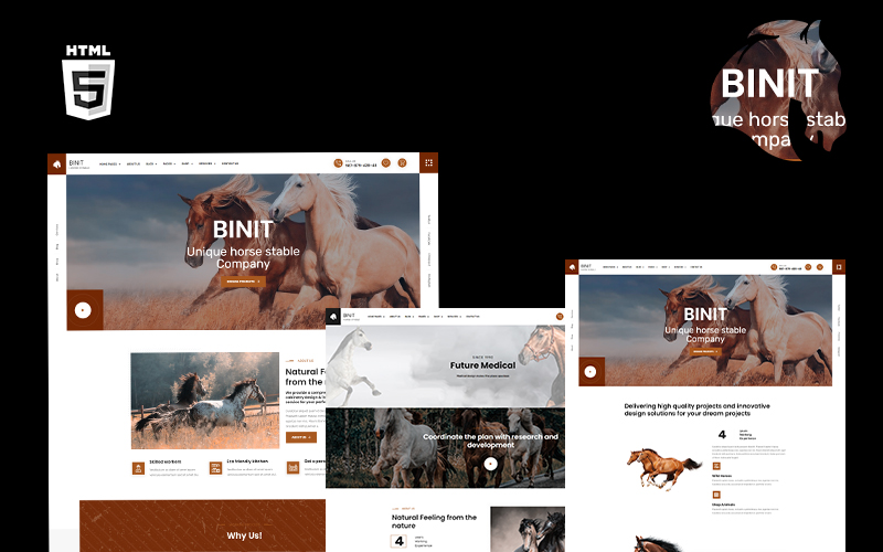 Binit Horses and Stables HTML5 Template