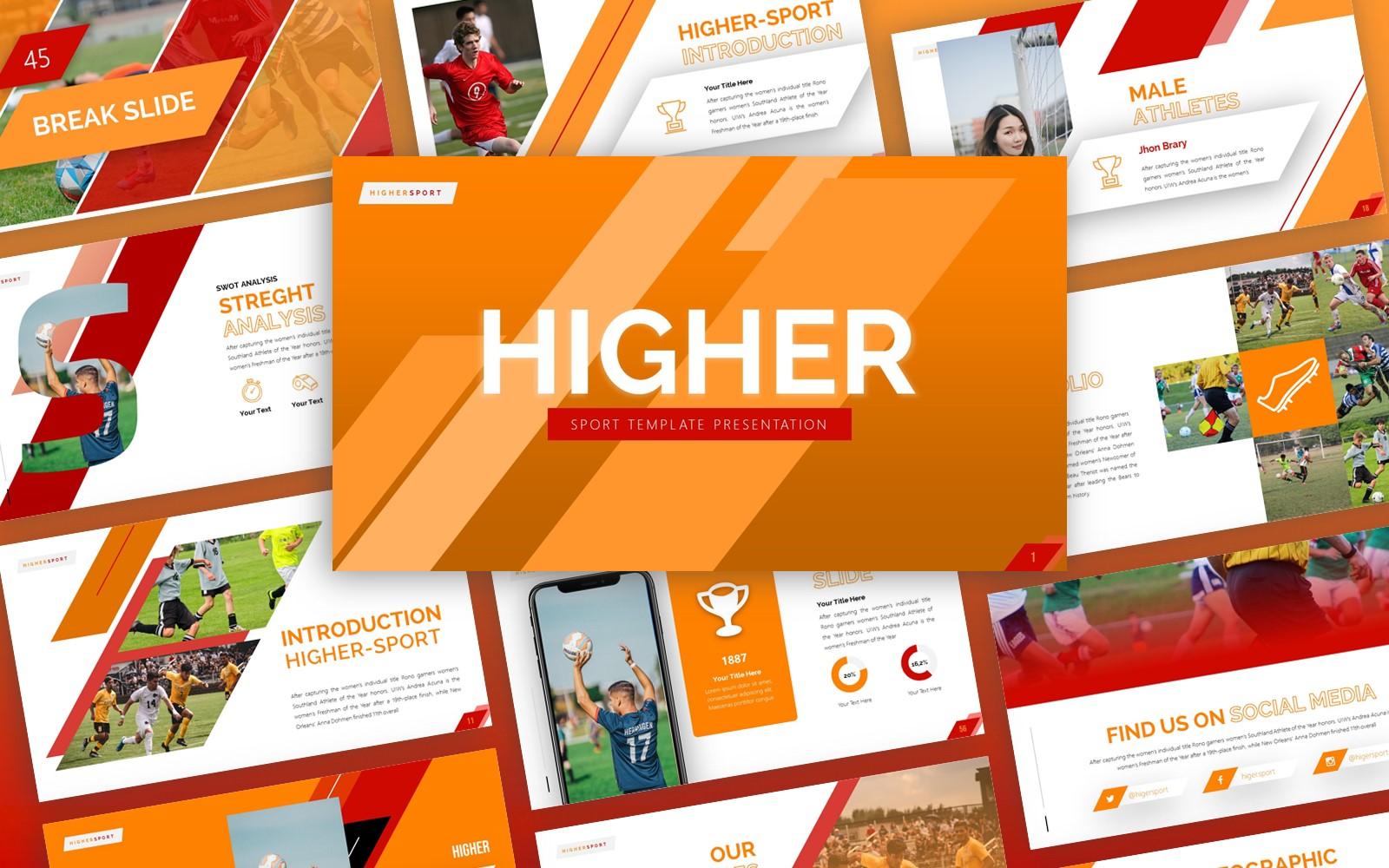 Higher - Sport Multipurpose PowerPoint template