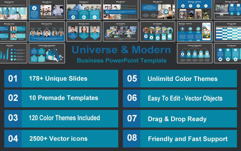 Universe & Modern Business PowerPoint template