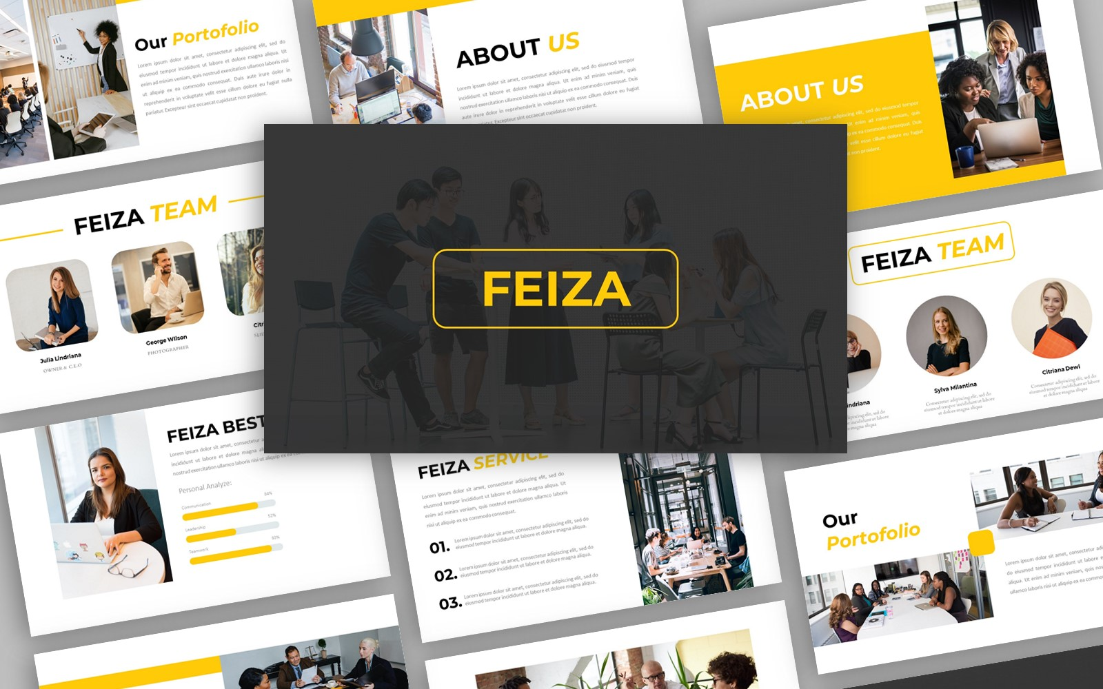 Feiza - Creative Business Presentation PowerPoint template