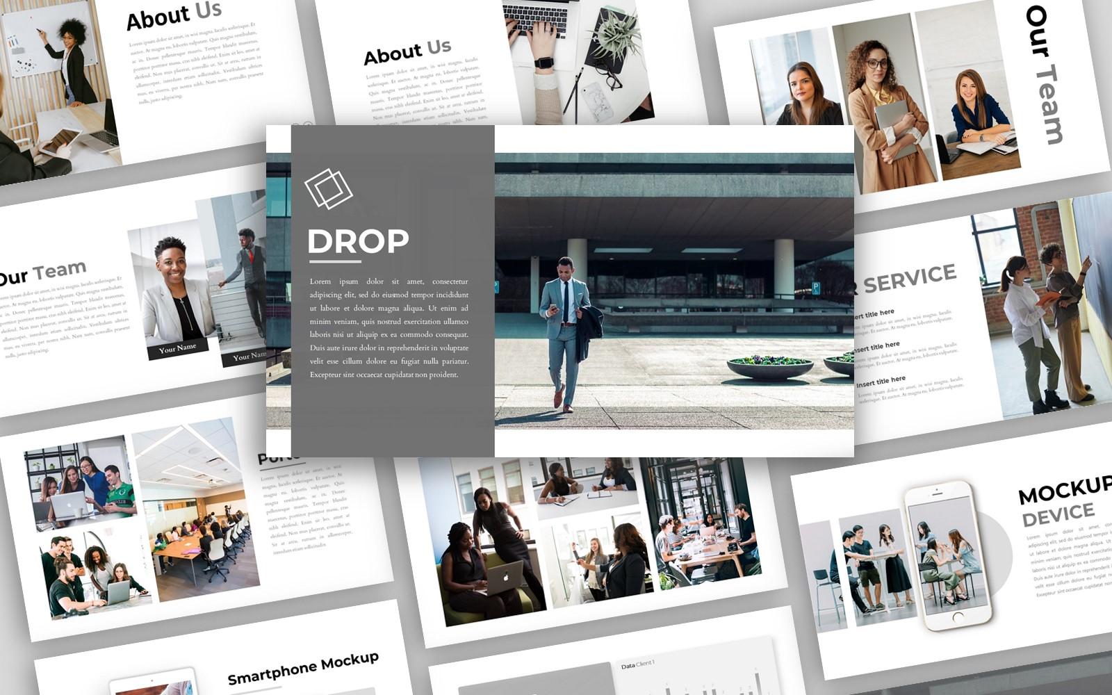 Drop - Creative Business Presentation PowerPoint template