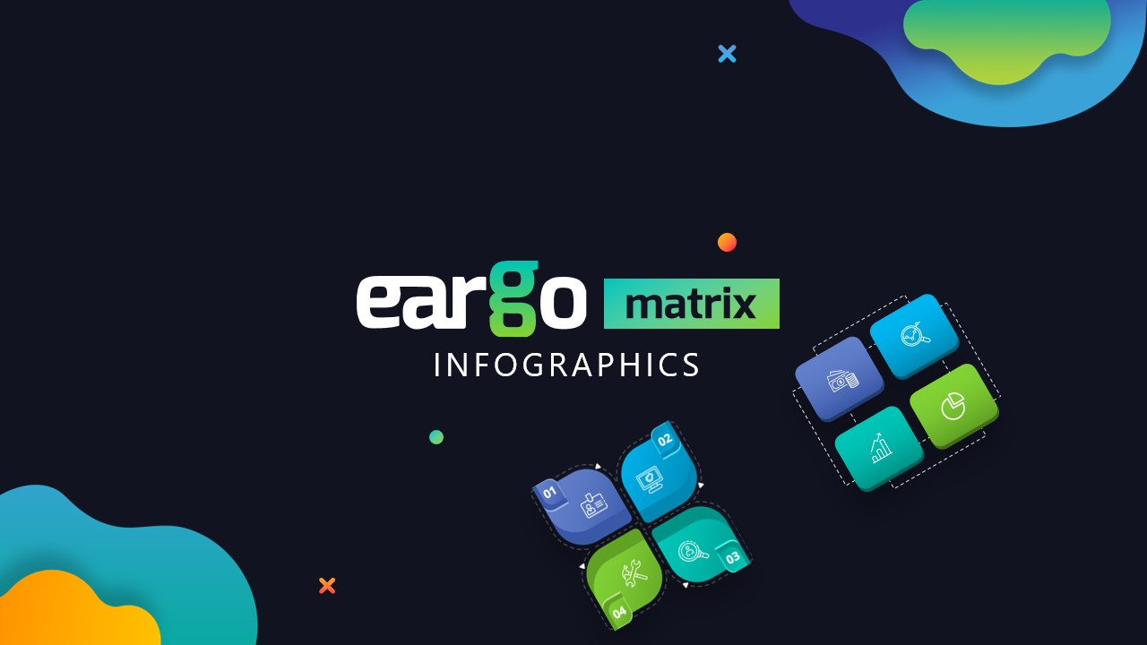 Eargo Matrix Infographics PowerPoint template