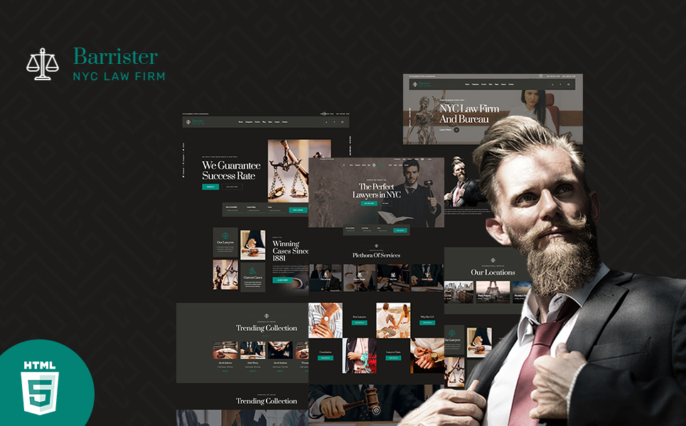 Barrister Lawyer & Attorney HTML5 Template