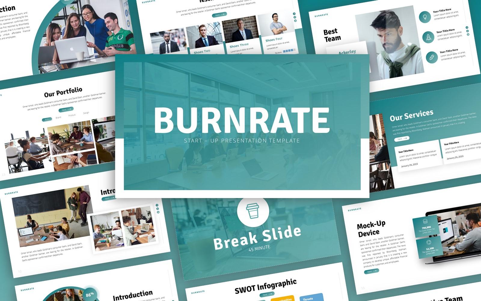 Burnrate - Startup Multipurpose PowerPoint Template