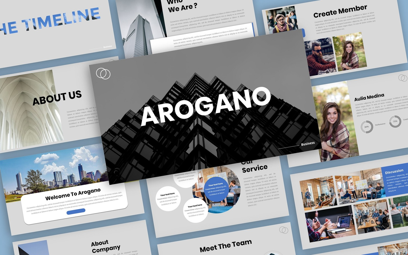 Arogano - Business Presentation PowerPoint Template