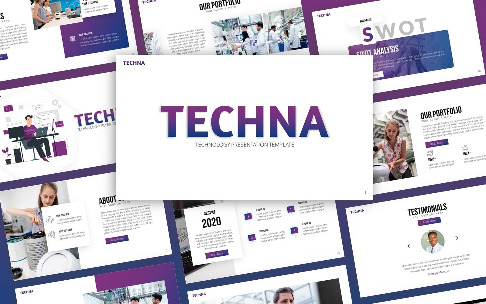 Techna - Technology Multipurpose PowerPoint Template