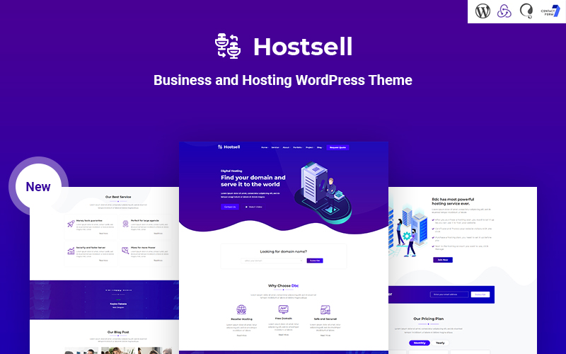 Hostsell - Business and Hosting Responsive WordPress Theme