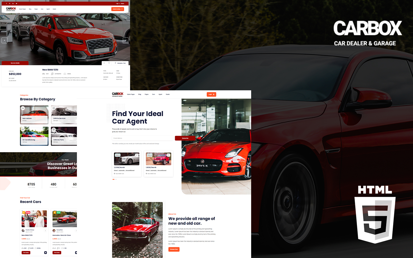 Carbox - Car Listing HTML Website Template
