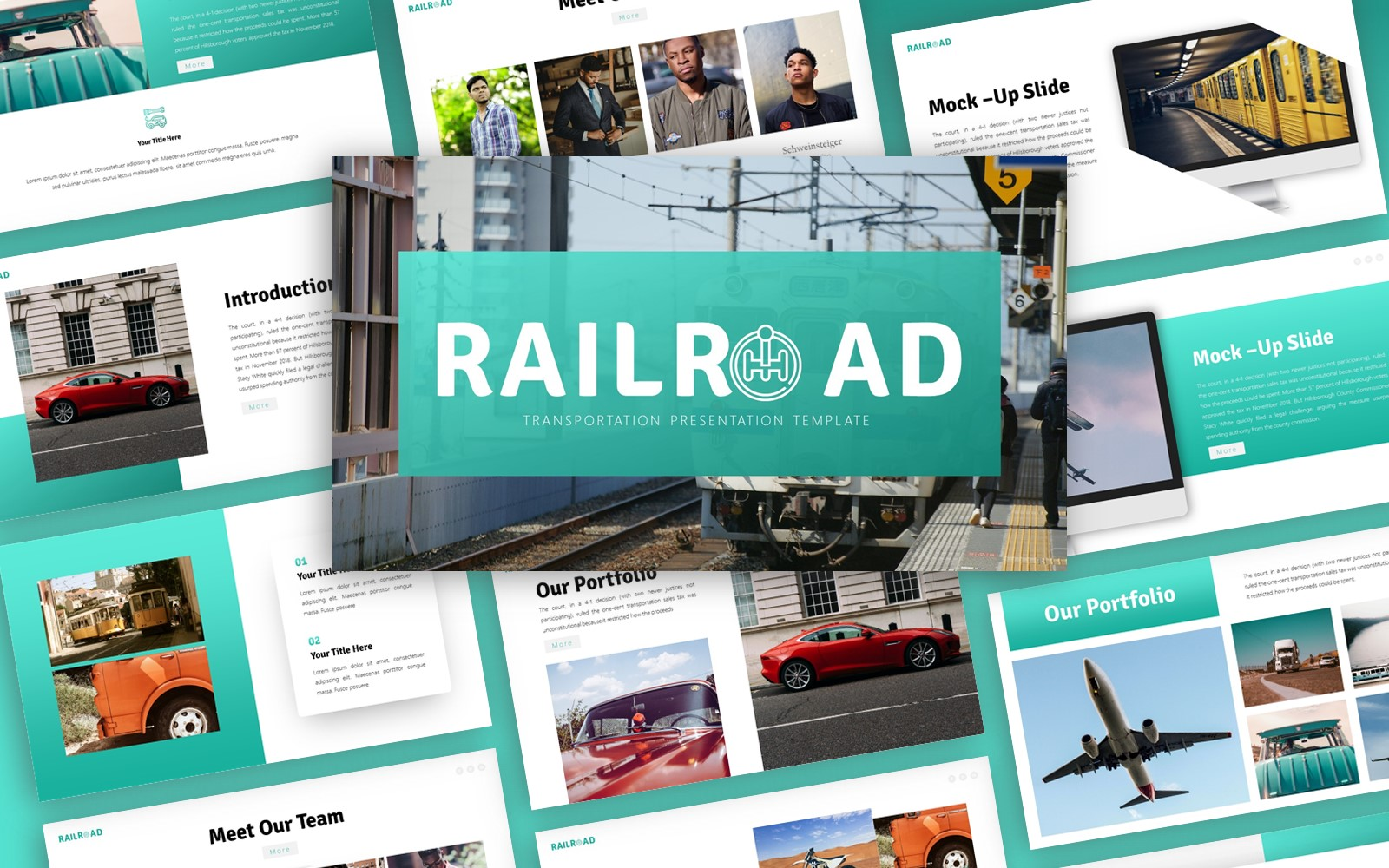 Railroad - Transportation Multipurpose PowerPoint Template
