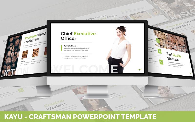 Kayu - Craftsman PowerPoint Template