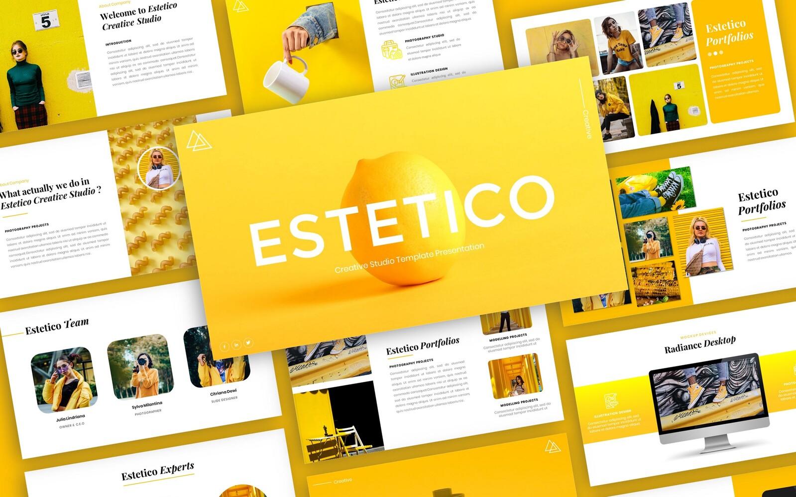 Estetico - Fashion Presentation PowerPoint Template