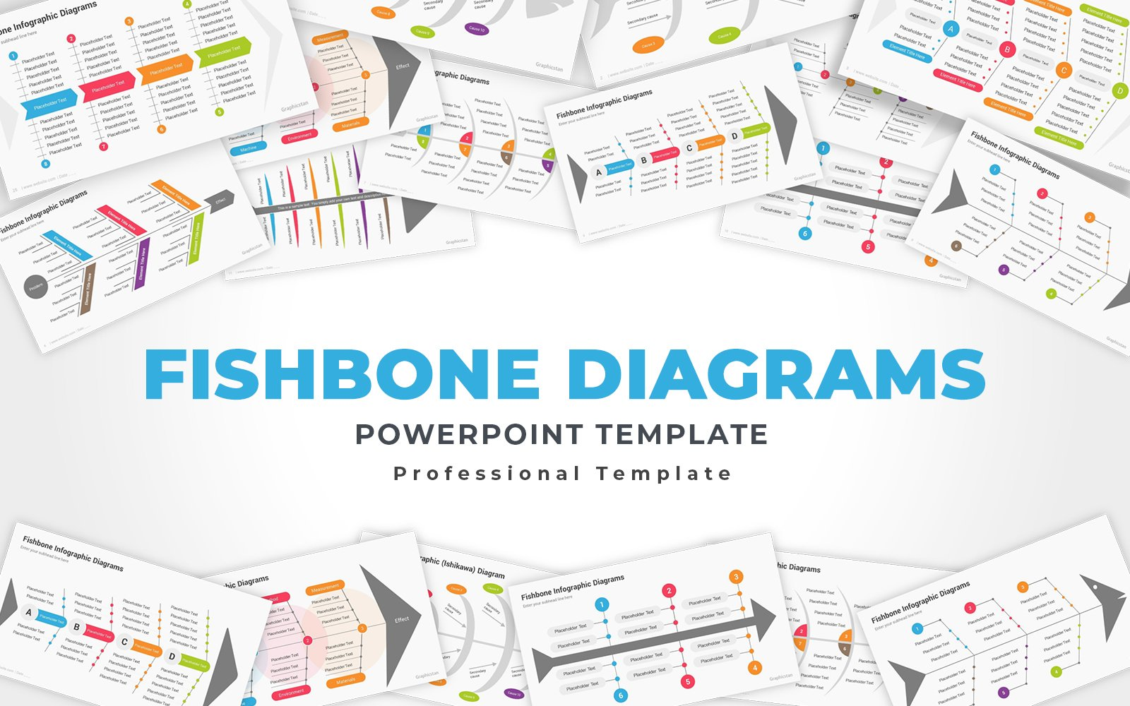 Fishbone or Ishikawa Diagrams PowerPoint Template