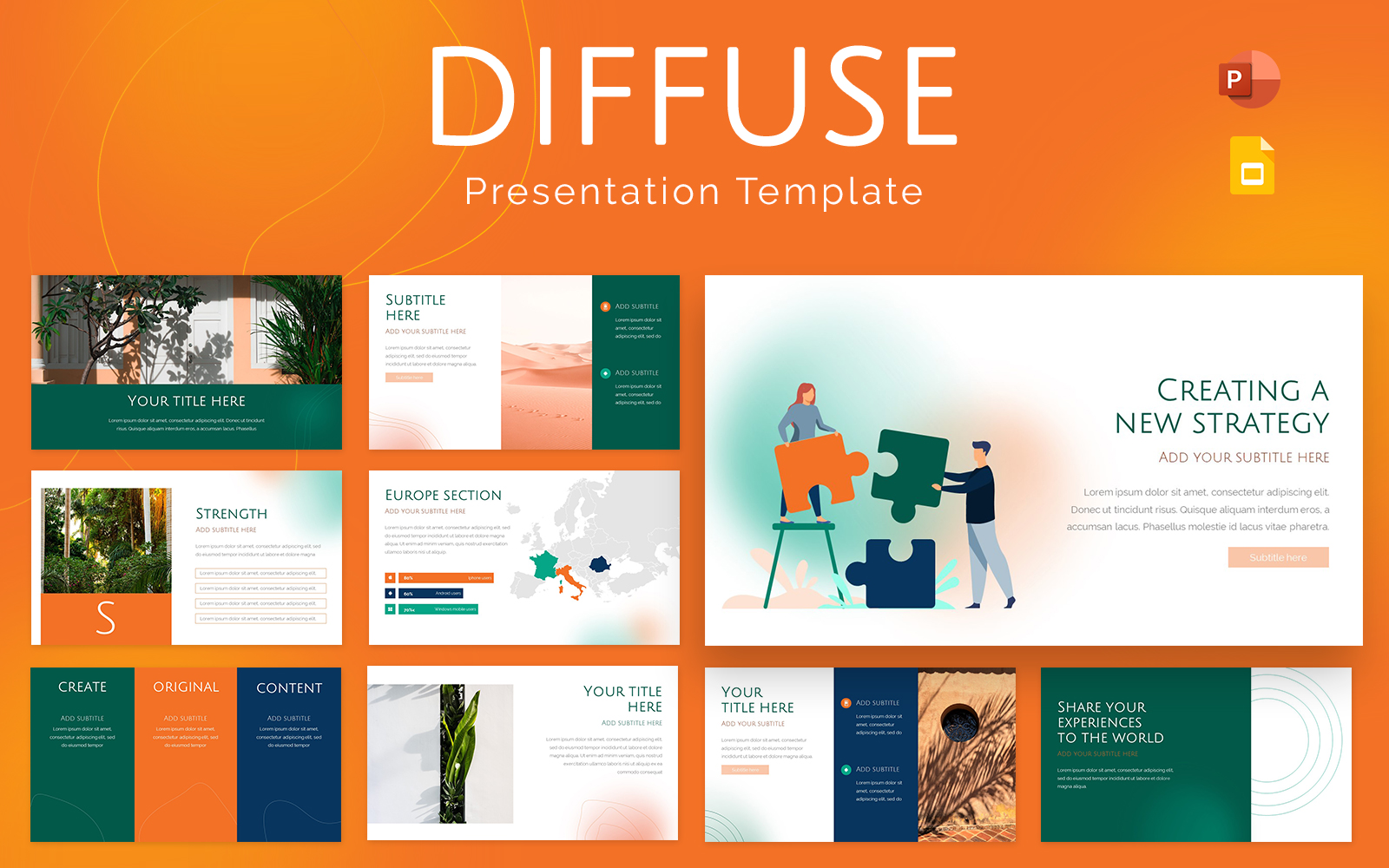 Diffuse Powerpoint Presentation Template