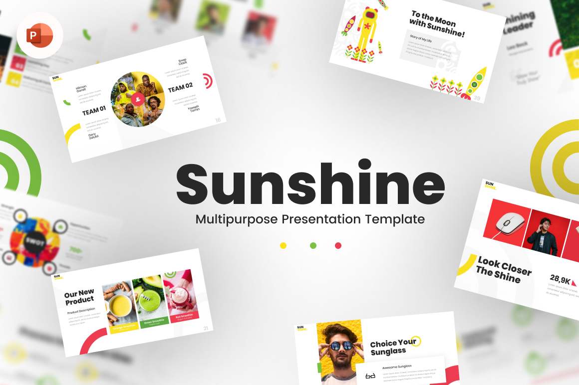 Sunshine - Multipurpose  Content Creative PowerPoint Template
