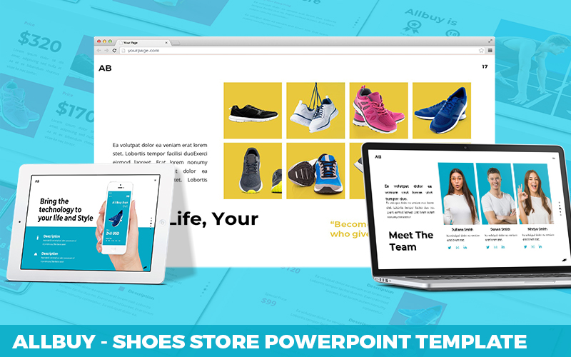 Allbuy - Shoes Store Powerpoint Template