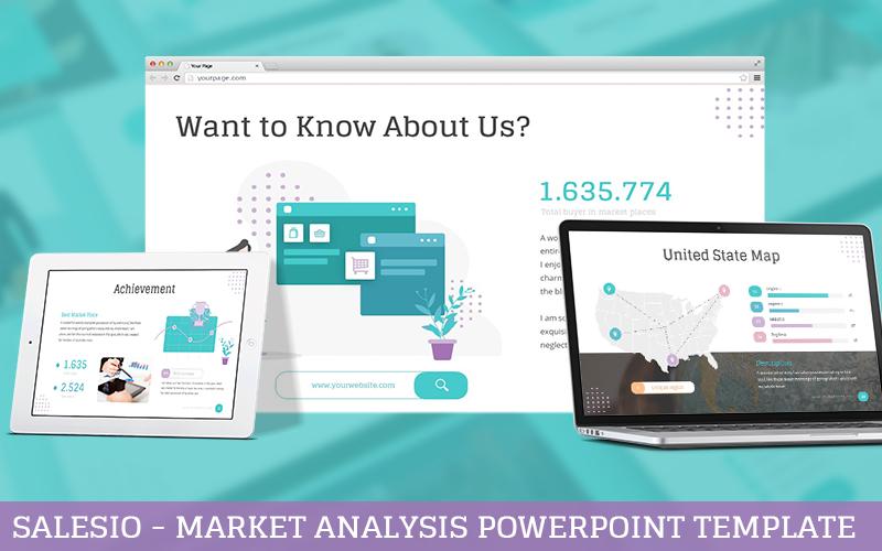 Salesio - Market Analysis PowerPoint Template