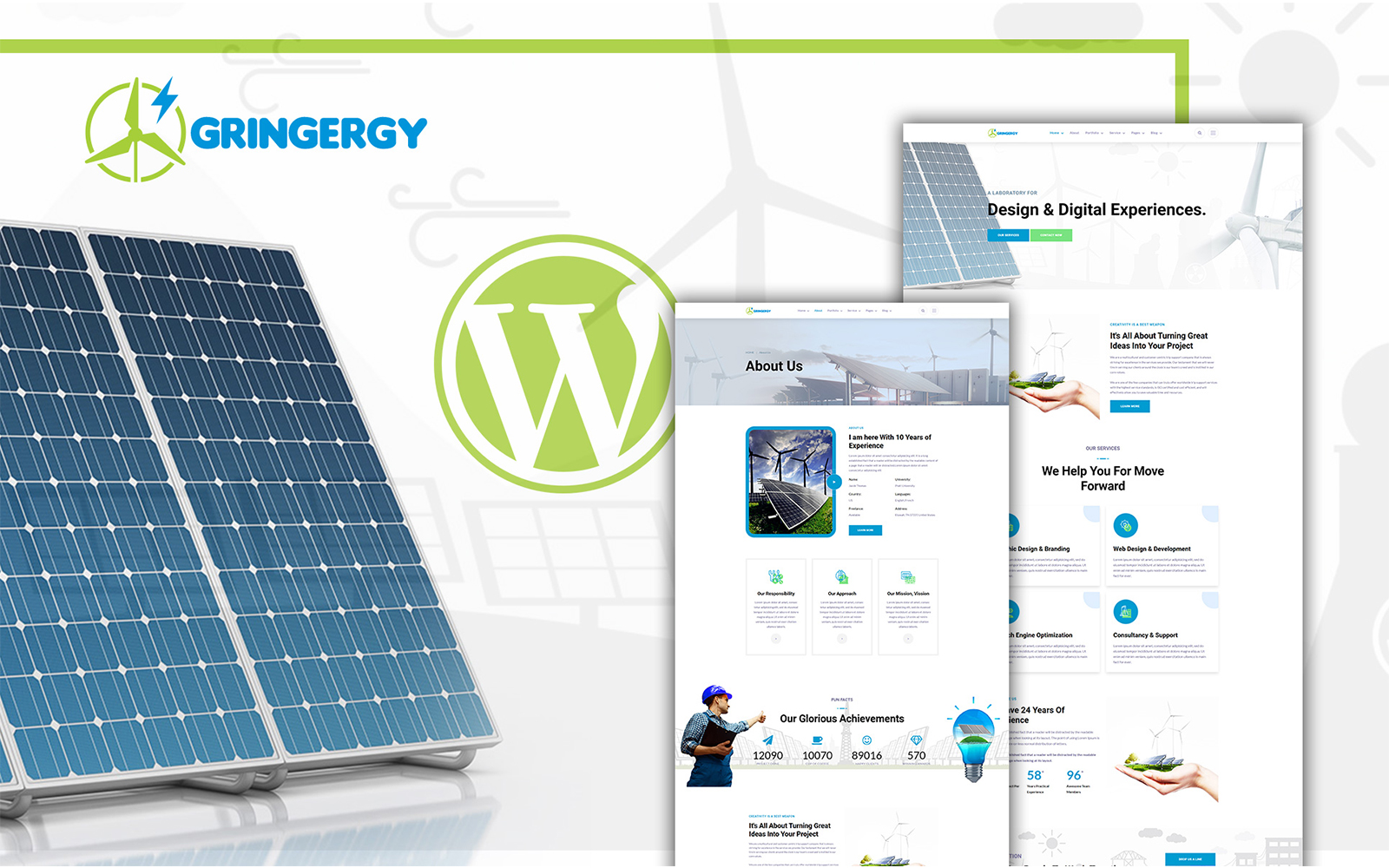 Grinenrgy Green Energy Solar Power WordPress Theme