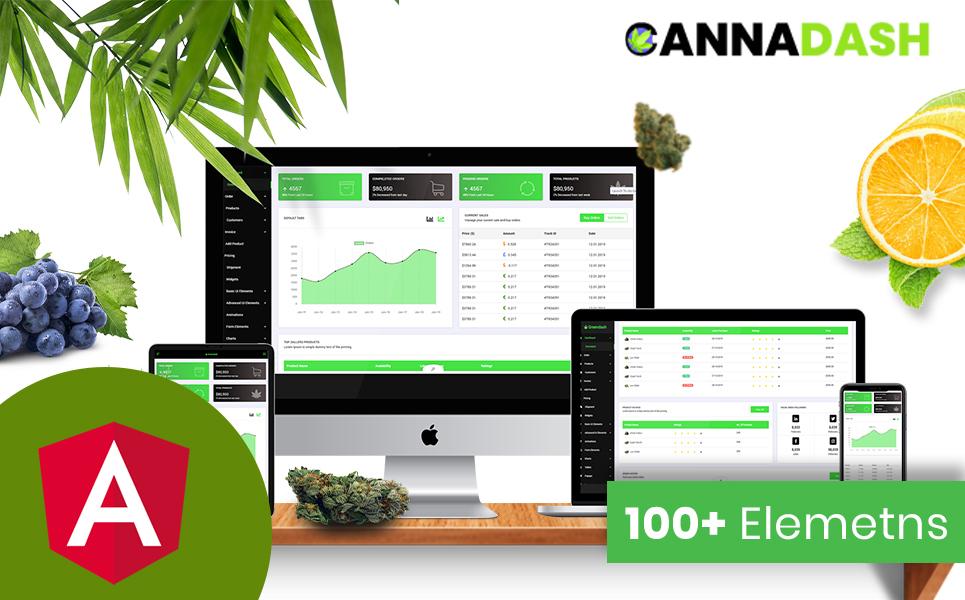 Cannadash Cannabis Weed Admin Dashboard Angular JS Template