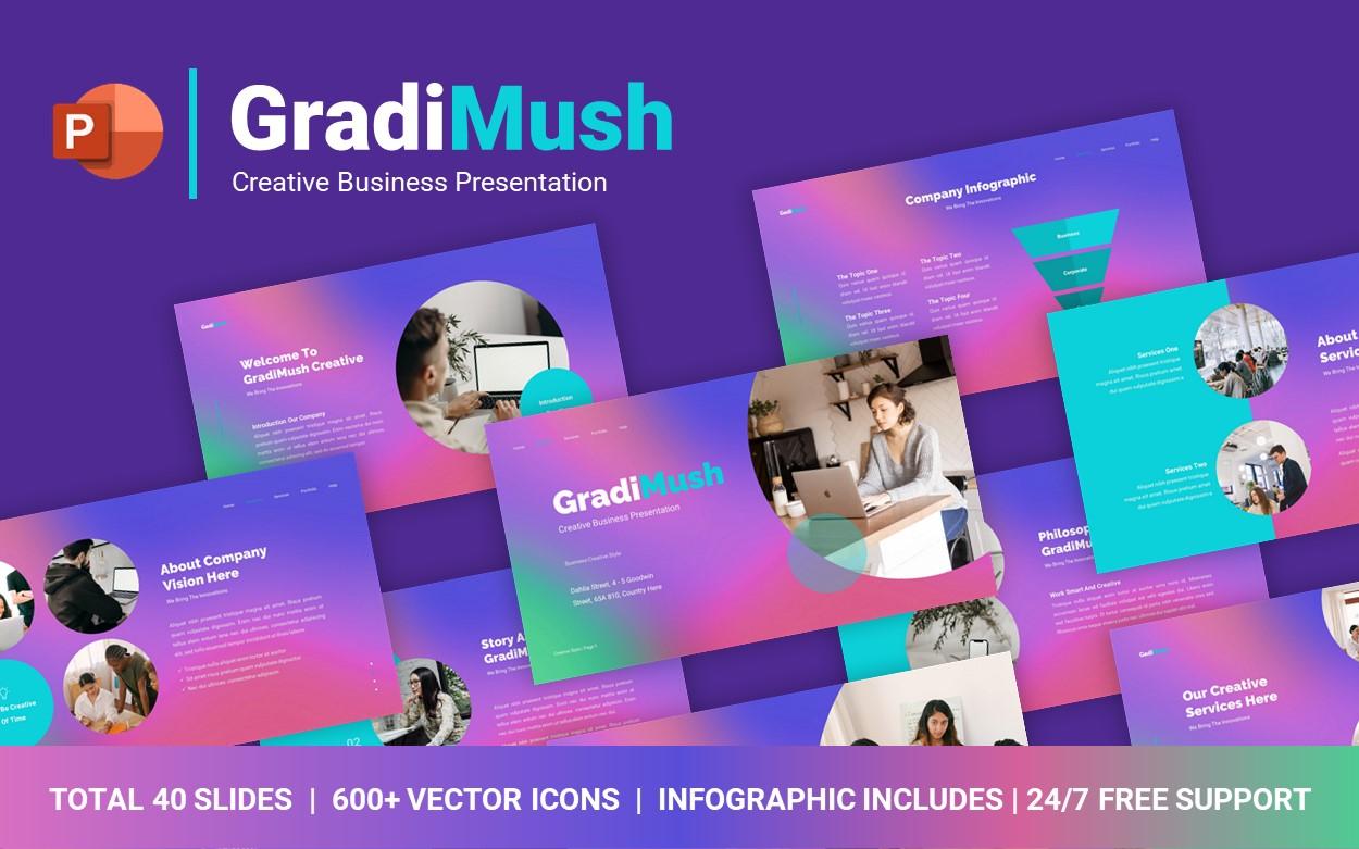 GradiMush Creative Business PowerPoint Template