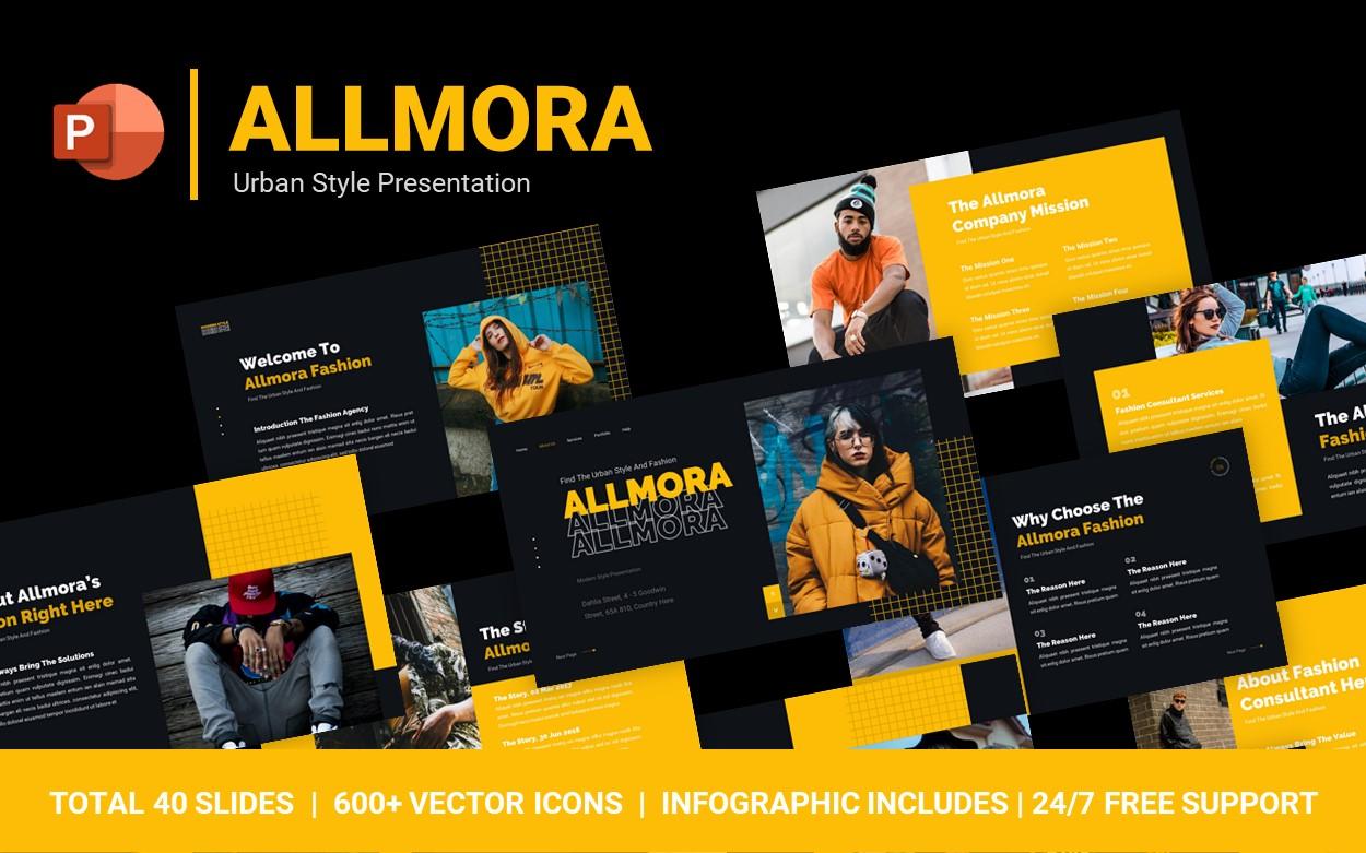 Allmora Urban Style PowerPoint Template