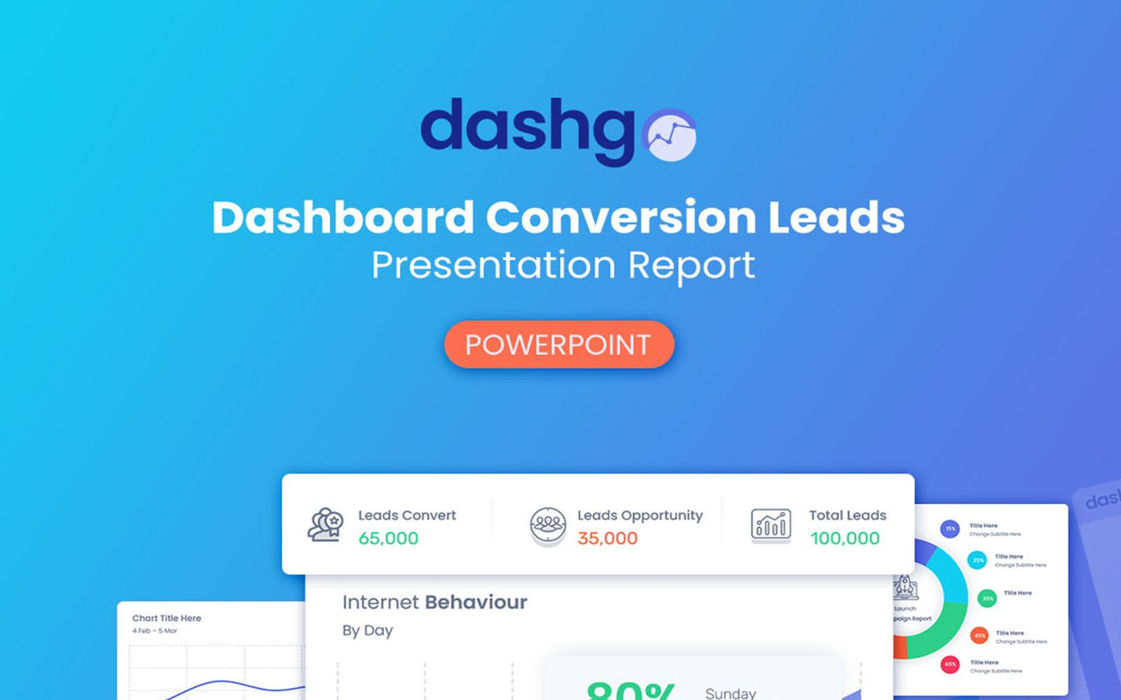 DashGo - Dashboard Conversion Leads Report PowerPoint Template
