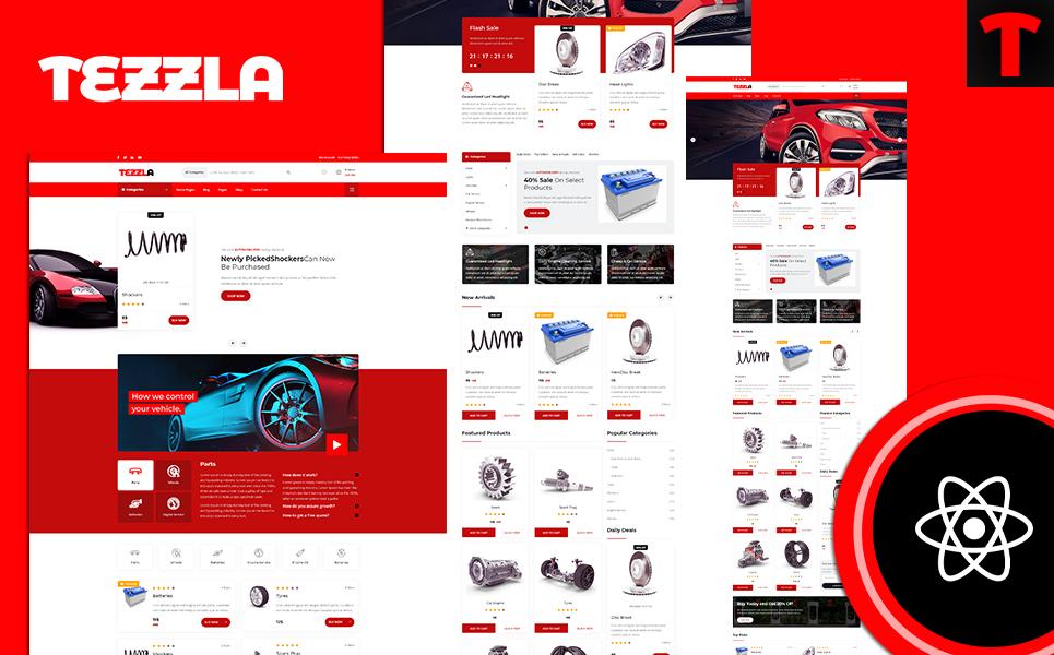 Tezzla Automobile accessories Shop React Template