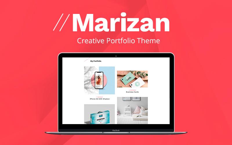 Marizan  - Designer Portfolio WordPress theme