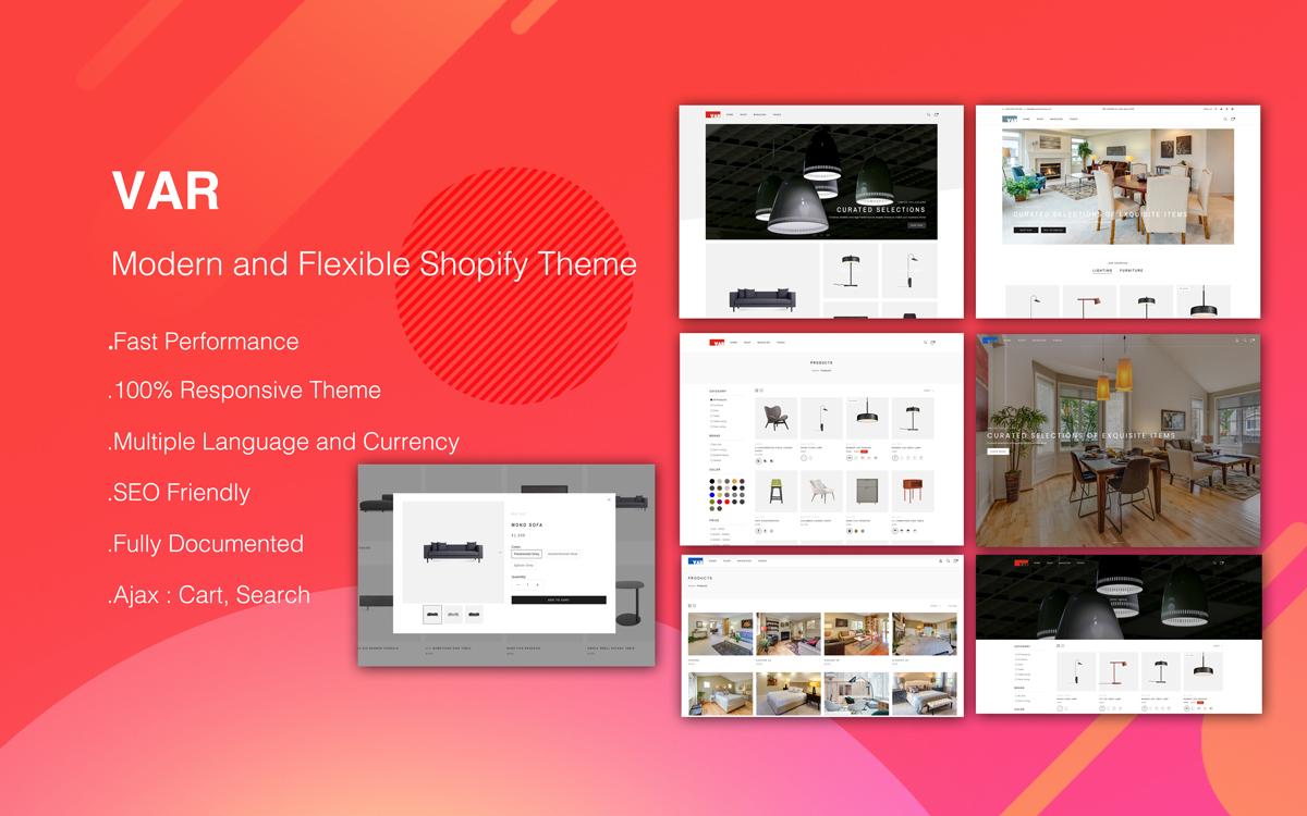 VAR - Modern and Flexible Shopify Theme