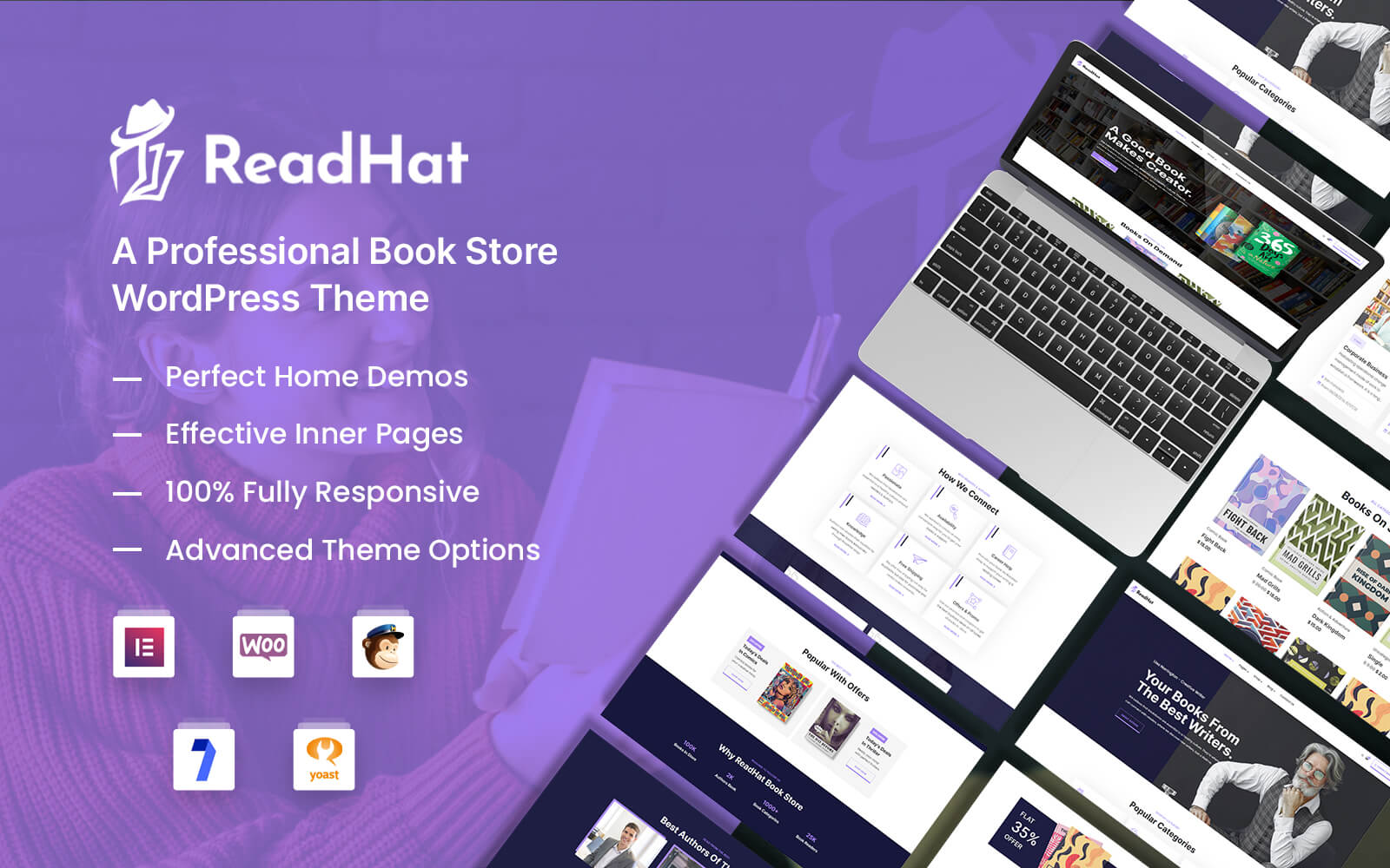 ReadHat - Book Store WooCommerce WordPress Theme